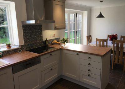 Kitchen and utility room in Burbidge putty