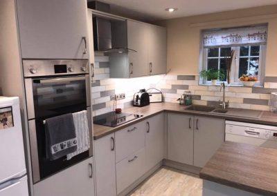 Stone Grey kitchen with Blanco sink in Tartufo