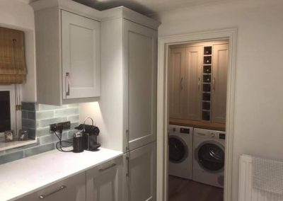 Burbidge Kew Soft Grey Silestone worktops, Neff appliances